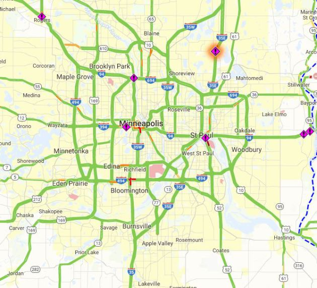 mn roads conditions map with Mn Dot Travel Map on 36 additionally Wisconsin besides Current Conditions together with 4672978 likewise File Hennepin County Road 122.