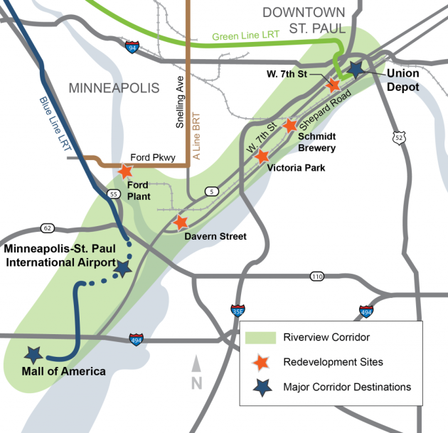 Streetcars among 6 options for transit route between St Paul and