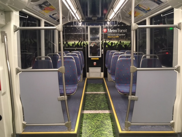 Super Bowl-themed light-rail cars begin rolling this weekend
