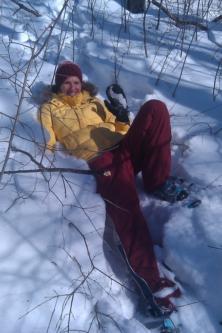 Nothing like falling in fresh snow and getting attacked by trees. All in good fun.