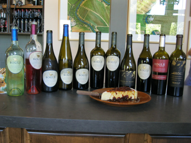 Bogle wines at the tasting room