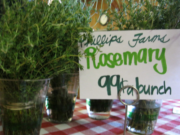 And big bunches of fresh rosemary? Um, yes please ...