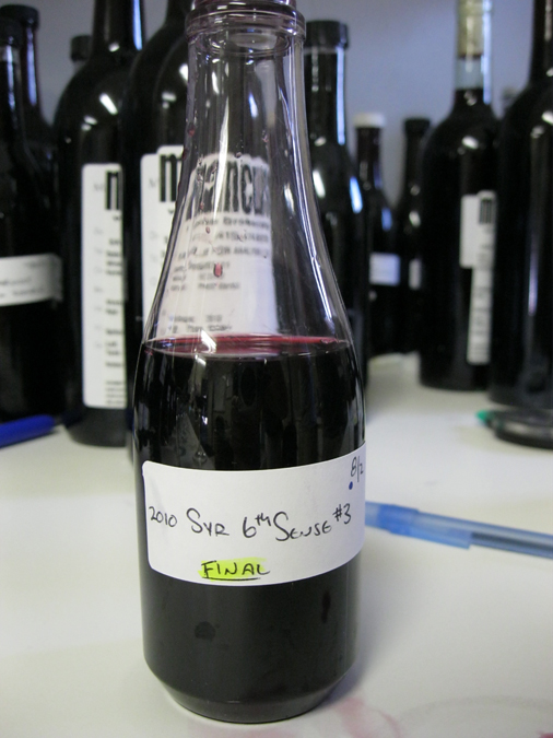 A definite highlight: Trying the just agreed upon final blend of what will be bottled as the 2010 6th Sense Syrah.