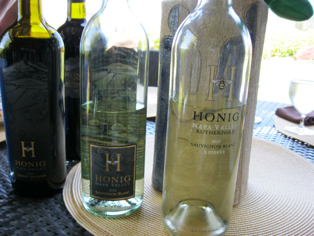 Honig wines at lunch ... 
