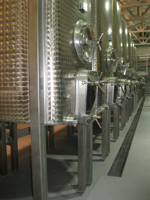 Pristine tanks used for fermenting 
