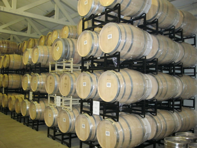 At $1500 a pop for new French oak barrels, some wineries make other choices. By my count, Merryvale's shipment of these new barrels equals around $200,000. The barrels will only be used for three years. 
