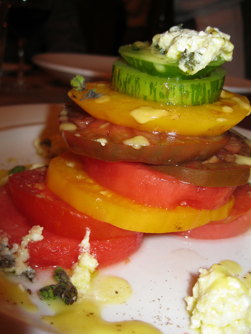 Wonderful tomato and watermelon salad