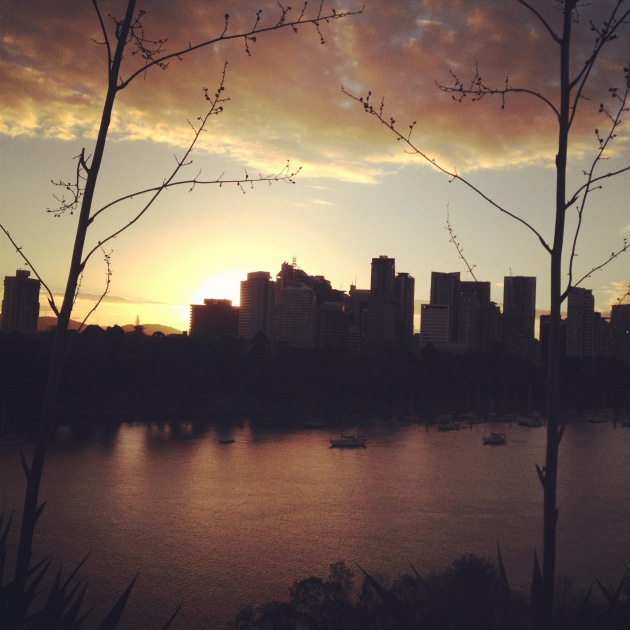 Brisbane Sun Setting. :) awe!