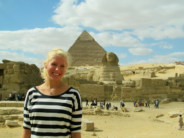 Just another visitor to the Great Pyramids and the Sphinx