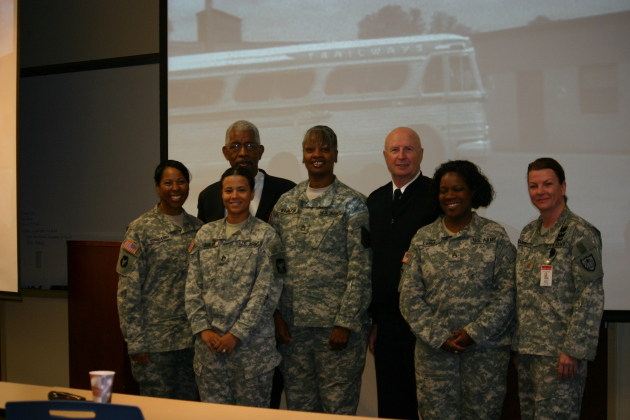 "Ernest ""Rip"" Patton, Jr. meeting with Members of the MN National Guard"