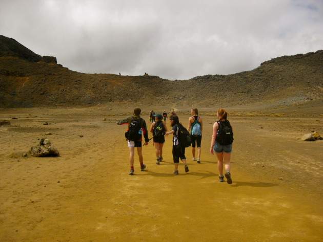 Walking across the South Crater.