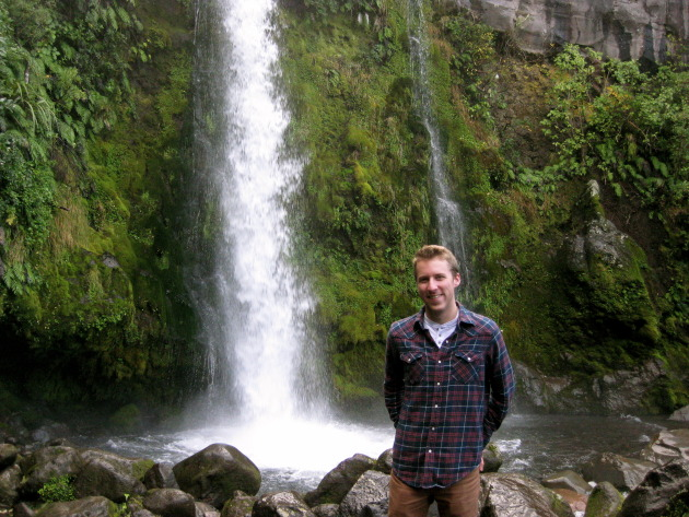 Dawson Falls. The falls were formed from pyroclastic flows following the last eruption of Mt. Egmont 250 years ago!