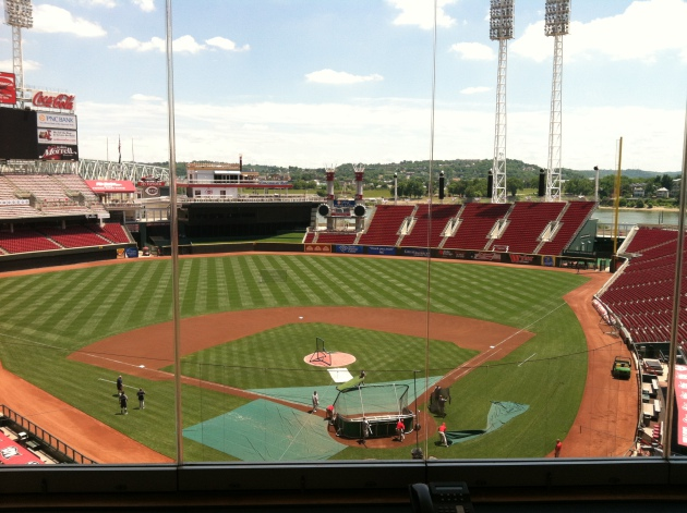 Great American Ballpark (press box view)