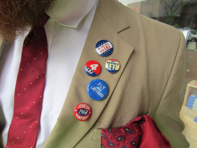 You just don't see pins like that anymore--except on the lapel of Andy Sturdevant.
