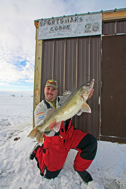The midwinter bite is always hot up on Lake of the Woods