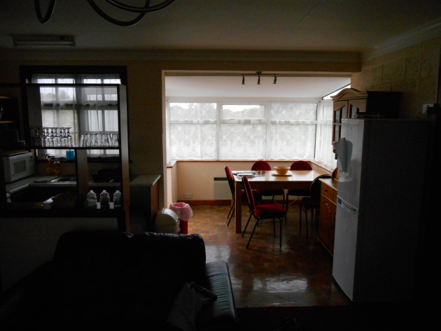 The living space in the cottages