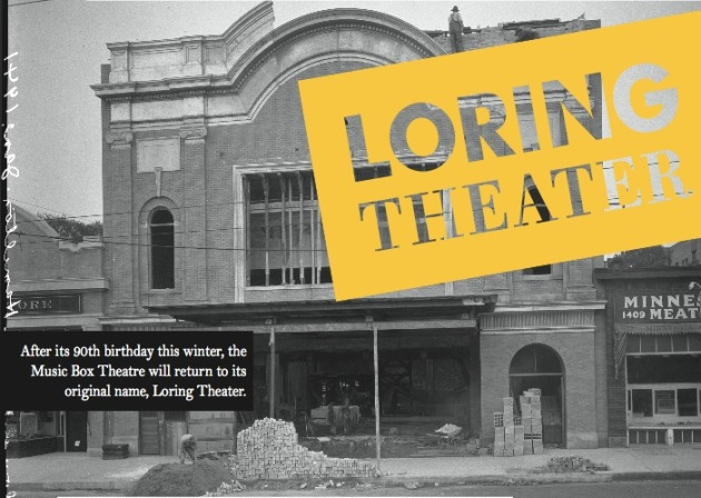 Advertisement touting the name-change back to the Loring Theater.