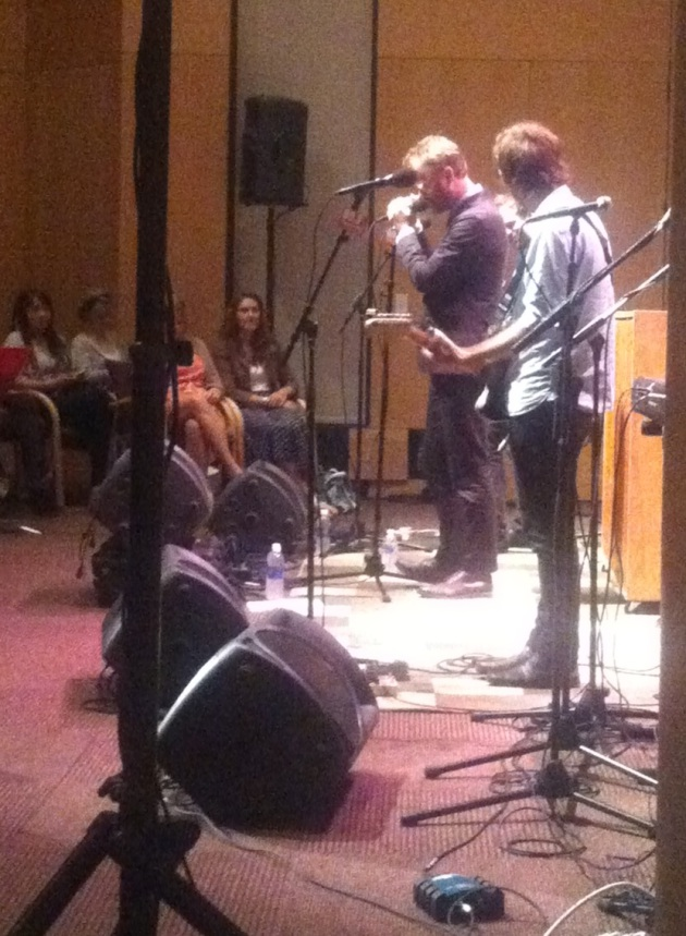 The National at its 89.3 the Current taping in MPR's UBS Forum.