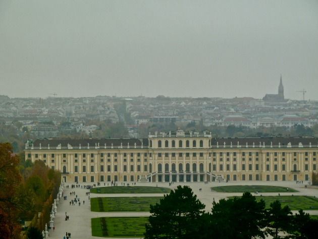 the view from the top of the hill was magnificent! say hello to Vienna!