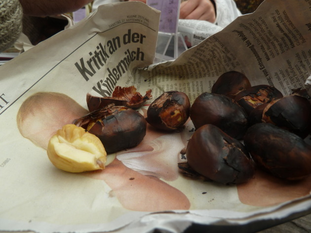 To eat, simply peel off the roasted outer shell and eat the creamy white nut inside!