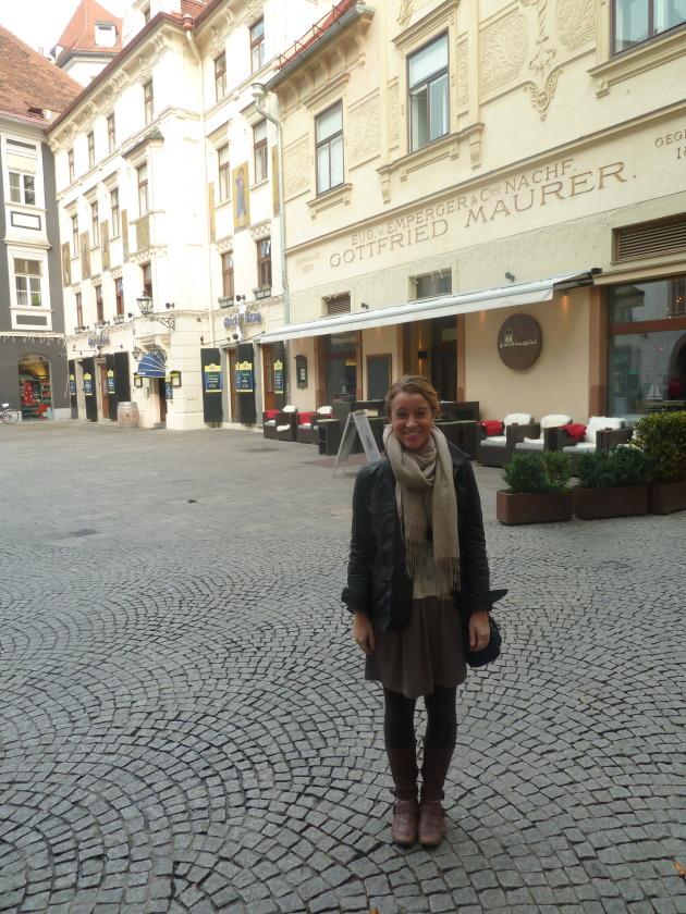 Standing in front of the Glockenspielplatz