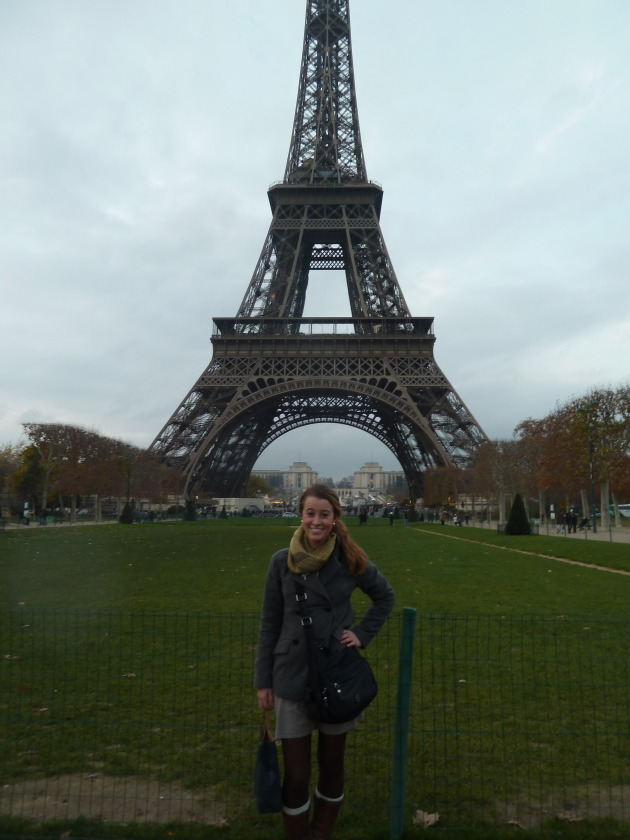 Oh just hanging out in front of the Eiffel Tower...no big deal!