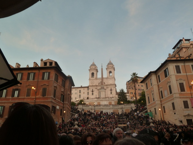 There were only eight zillion other people who wanted to see the Pope too!