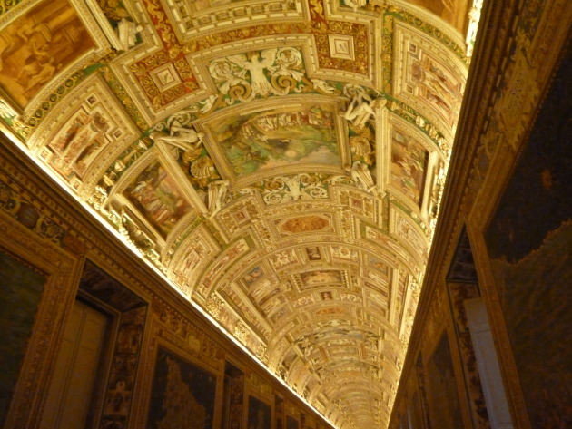 Gorgeous ceiling in the Vatican Museum
