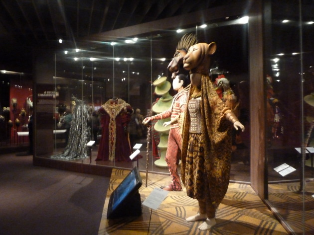 Costume display at the V&A