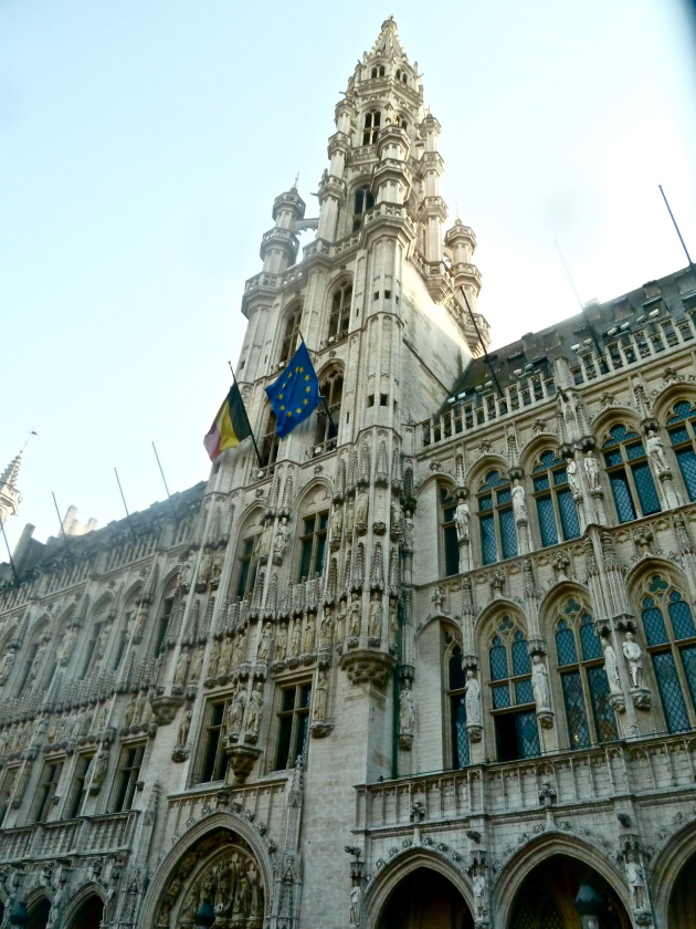 The soaring towers in the Grand Place!