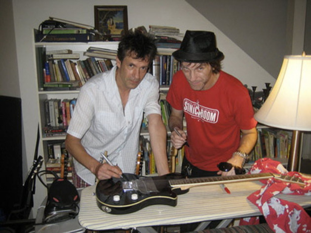 Westerberg and Tommy Stinson circa 2010, when Stinson organized an auction for Haiti's Timkatec Center.