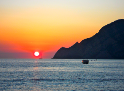 Cinque Terre sunsets like this make braving all kinds of questionable bathrooms worth it.