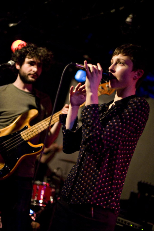 Chris Bierden and Channy Leaneagh of Polica