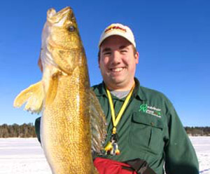 Author Ron Hustvedt with a hefty Lake Bemidji walleye