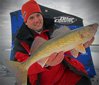 The author with a nice walleye that had to be immediately released