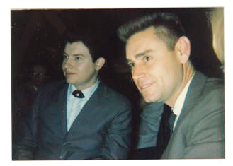 Sherwin Linton and George Jones in the Flame (and buzz-cut) days of the early 1960s. / Courtesy Linton Entertainment