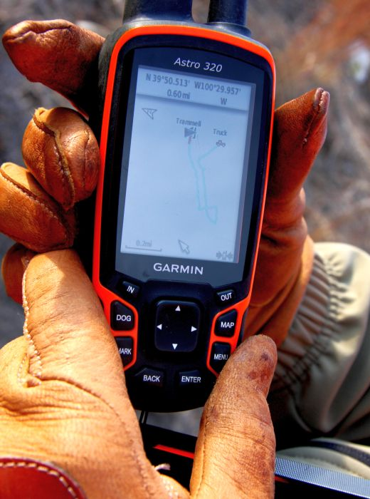 The Garmin Astro 320 easily helps me keep track of my bird dog, Trammell