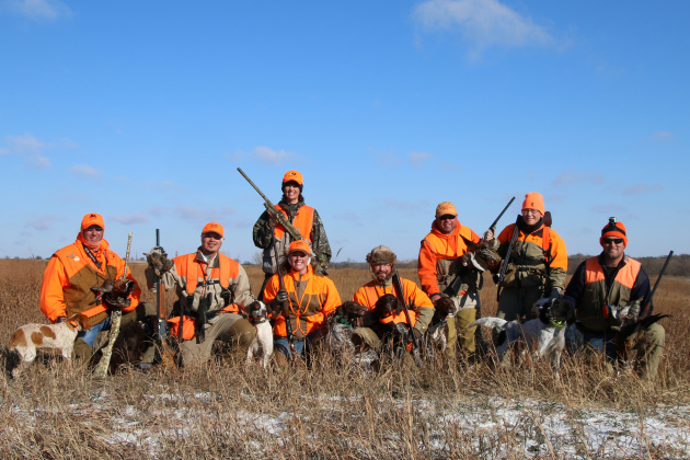 I had the opportunity to hunt with a wide array of bird dog breeds last week during this hunt in Kansas