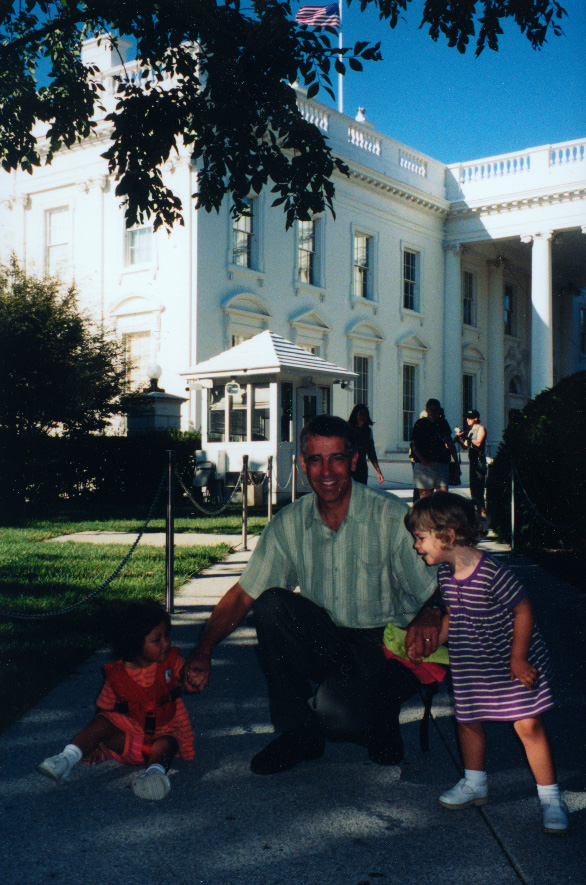 Bill Schneider at the White House