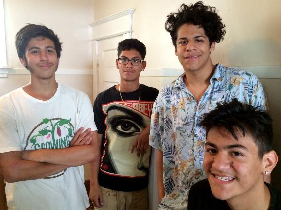 From Left are: Ricardo Marinez, Luis Ramirez, Tariq Deleon and Felix Yingling.