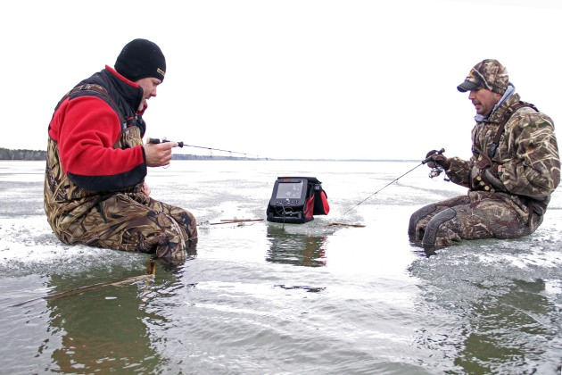 A unique fishing opener on the ice for Ice fishing guides minnesota
