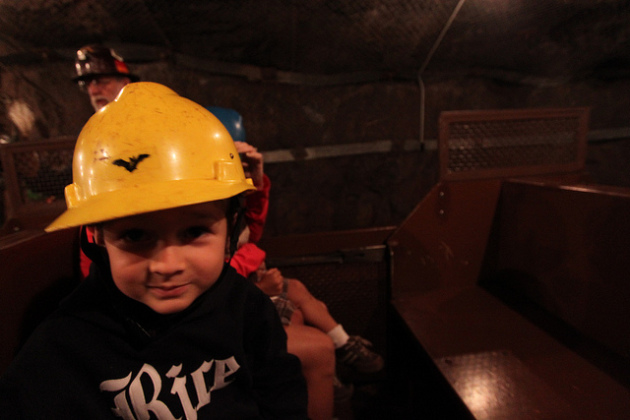 A boy visits a part of Iron Range history in the Soudan Underground Mine. PHOTO: Roy Luck, Creative Commons license