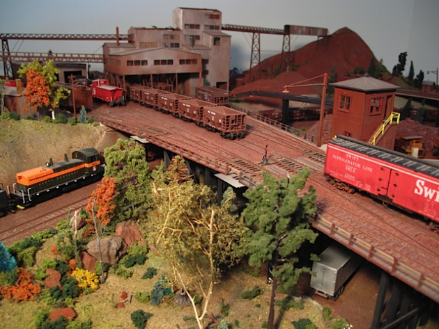 Many of the challenges in the ongoing struggle to redevelop the Iron Range economy relate to reconciling memories of good times gone, depicted in this model railroad scene by Alan Stone of Nashwauk, with the realities of the modern economy. (Alan Stone)