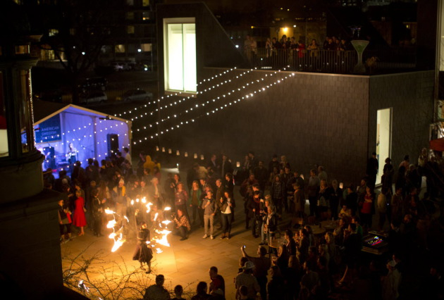 Hundreds partied at the American Swedish Institute on April 30. Star Tribune photo by Jeff Wheeler