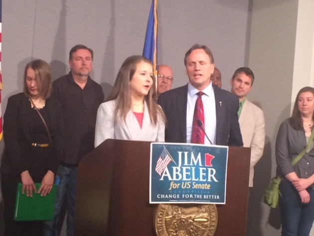 Rep. Jim Abeler and Abigail Whelan
