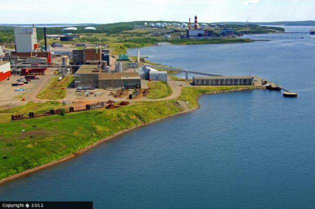 NewPage's former mill in Port Hawkesbury, Nova Scotia. (Marinas.com)