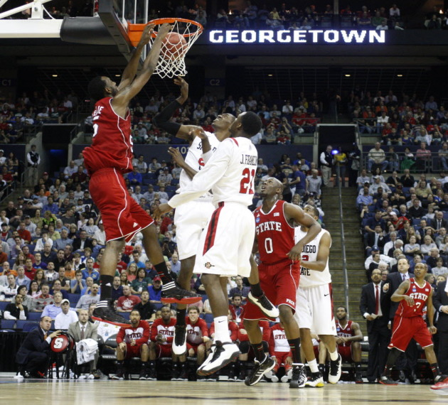 C.J. Leslie was all over the rim on Friday