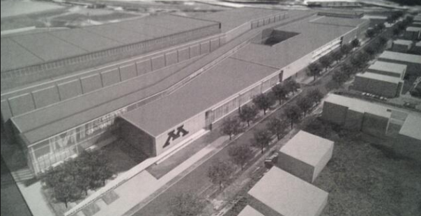 Concept of how the design of the new athletic complex could look