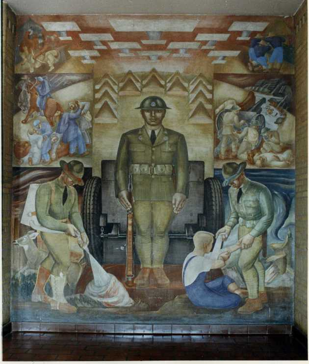 Lucia Wiley's mural of the Minnesota National Guard
