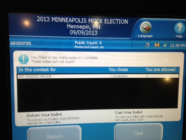 If a voter screws up a ballot, new voting machines will make it known within seconds after the voter inserts it.